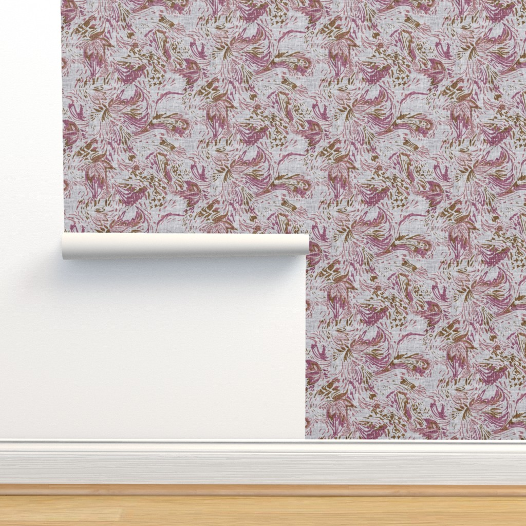 Isobar Durable Wallpaper featuring Boheme Tapestry (grape) MED by nouveau_bohemian