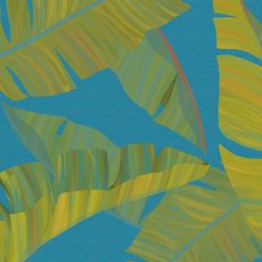 Large Banana Leaves turquoise