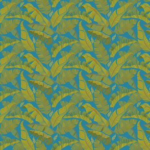 Small Banana Leaves turquoise