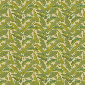 Small Banana Leaves beige texture