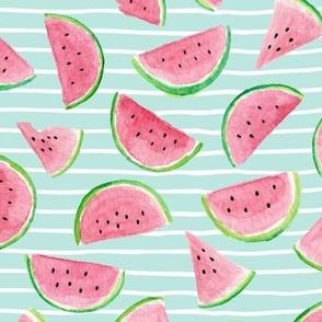 Watermelon Slices (crystal blue stripes)