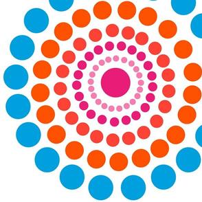 Band of Circles in Orange Surf