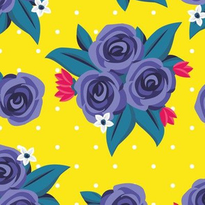 Polka Dot Roses (Purple)