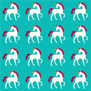 Rainbow Sparkles Unicorn - Turquoise