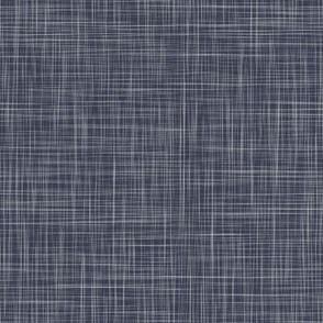 Linen Solid  - Coal Blue (Bees & Lemons)