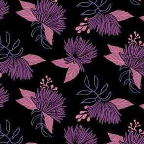 Spider Mums Black and Purple