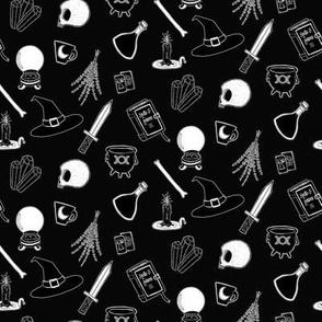 Witchcraft Supplies - black