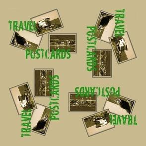 Postcard Fabric Design