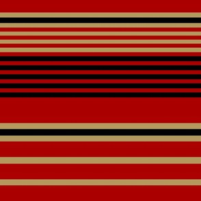 The Red and the Gold_Tri-Color Horizontal Stripes
