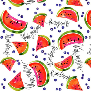 watermelons and blueberries