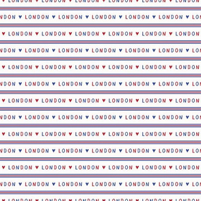 I love London lettering text seamless pattern.