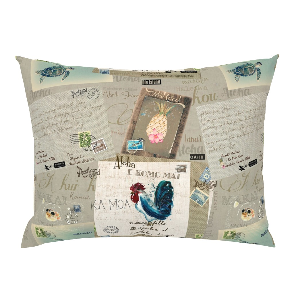 Campine Pillow Sham featuring From Hawaii with Aloha by hunnellekari