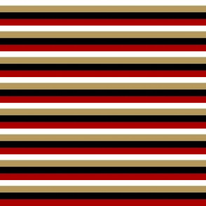 The Red and the Gold_Small Horizontal Stripes