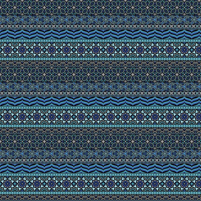 Boho Geo - Blues Small