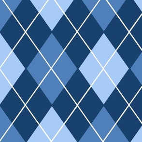 Classic Argyle Plaid in Blues