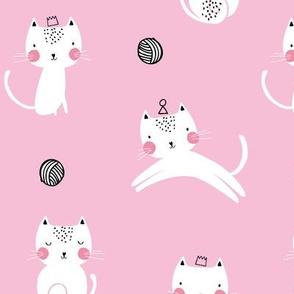 Cat cute kitten girls pink pattern
