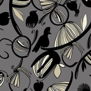 Bird Garden Charcoal