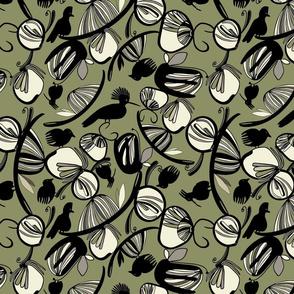 Bird Garden Olive