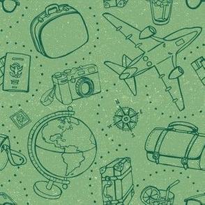 World Traveler on Green by ArtfulFreddy