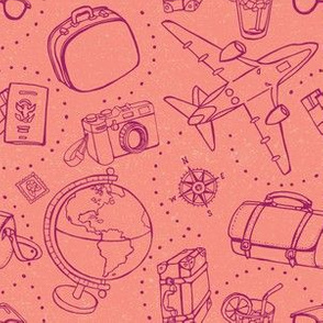 World Traveler on Pink by ArtfulFreddy