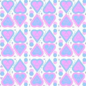 Pink and Blue It's A Girl! It''s A Boy! Hearts and Dots Fabric