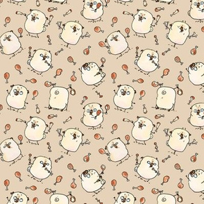 Drumstick Juggling Pugs - taupe