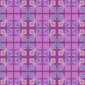 Red Lilac and Pink Mosaic