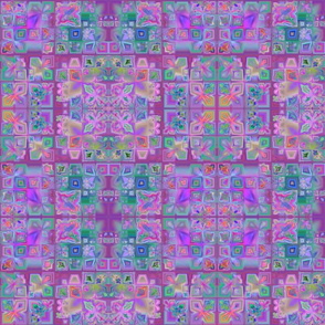 Intricate Tiled Purple Fractal