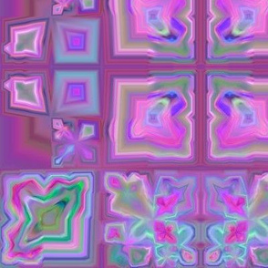 Wine and Pink Tiled Fractal