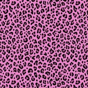 ★ CUSTOM LEOPARD PRINT - LEOPARD PRINT in FUCHSIA PINK ★ Tiny Scale / Collection : Leopard spots – Punk Rock Animal Prints