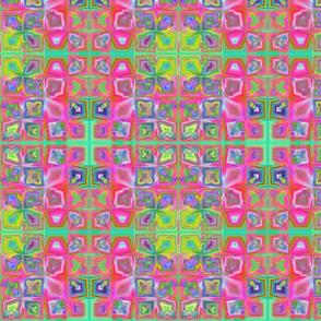 Hot Pink and Green Tiled Fractal