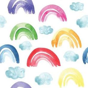 Watercolor Rainbows