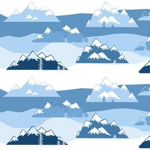 mountains blue