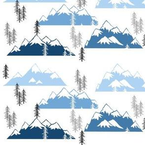 mountains white