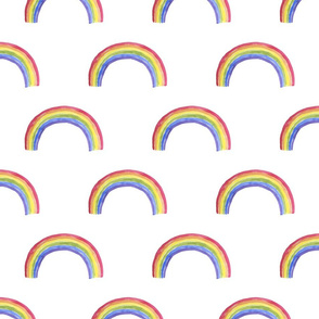 "7"" Rainbows in the sky, rainbow fabric, baby fabric,nursery fabric and rainbows nursery"