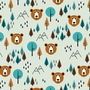 Little grizzly bear mountains fall forest wanderlust pine trees and stars