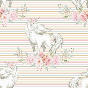 "4"" Unicorn on Rainbow Stripe"