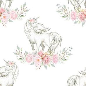 "4"" Unicorn on White"