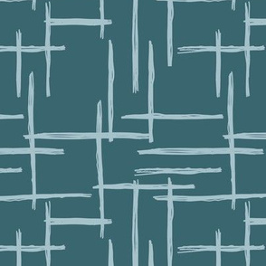 Abstract geometric minimal stripes checkered stripe trend pattern grid stone gray blue