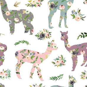 floral patchwork llama