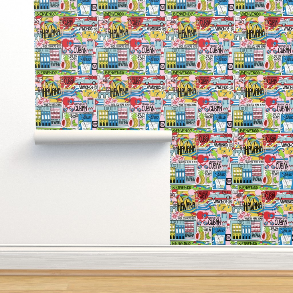 Isobar Durable Wallpaper featuring Hola Cuba! by nanshizzle