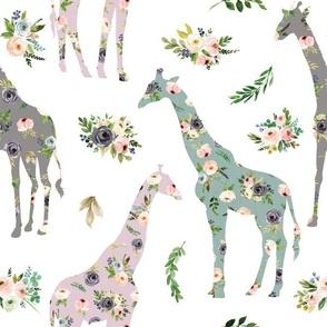 floral patchwork giraffe