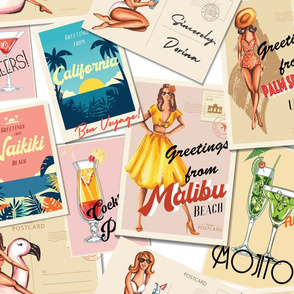 Pin-up Girls on Holiday