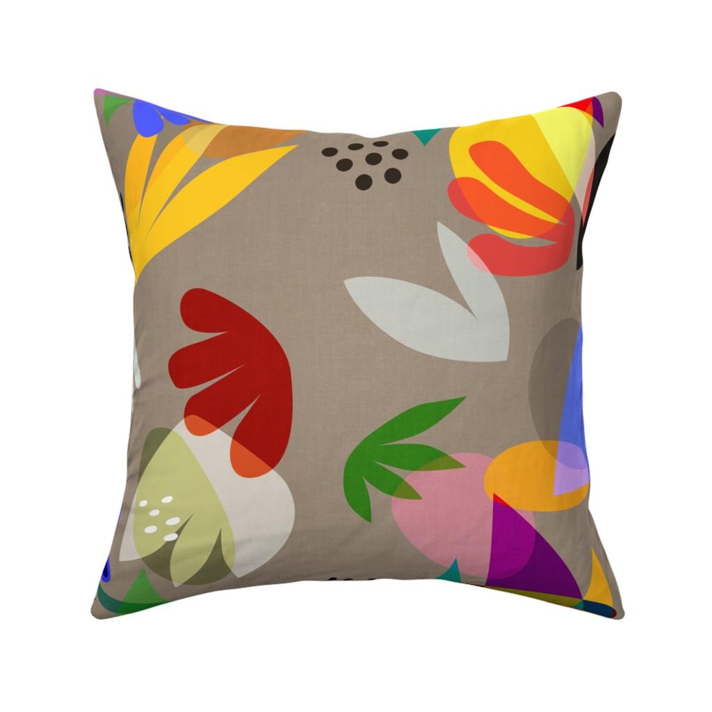 Catalan Throw Pillow featuring Matisse Cutouts Linen by barbara_moffett