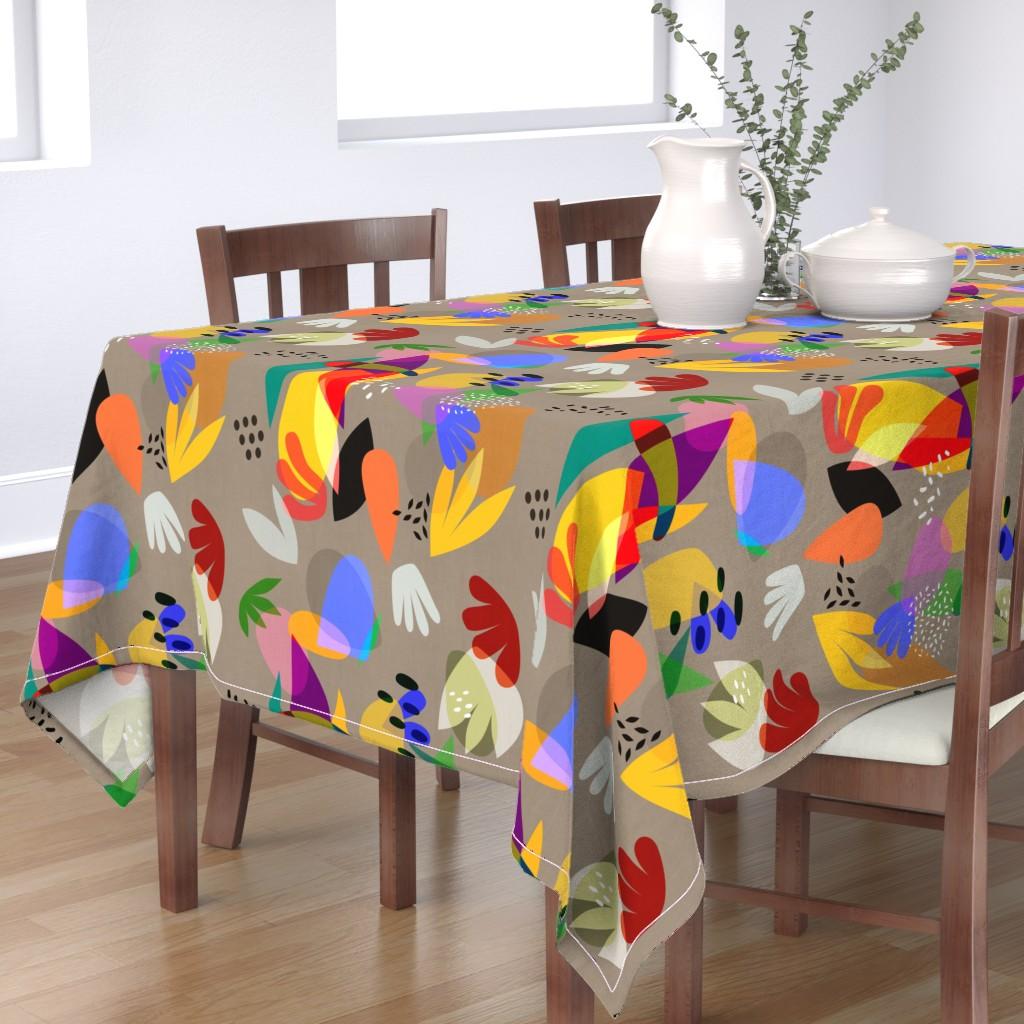 Bantam Rectangular Tablecloth featuring Matisse Cutouts Linen by barbara_moffett