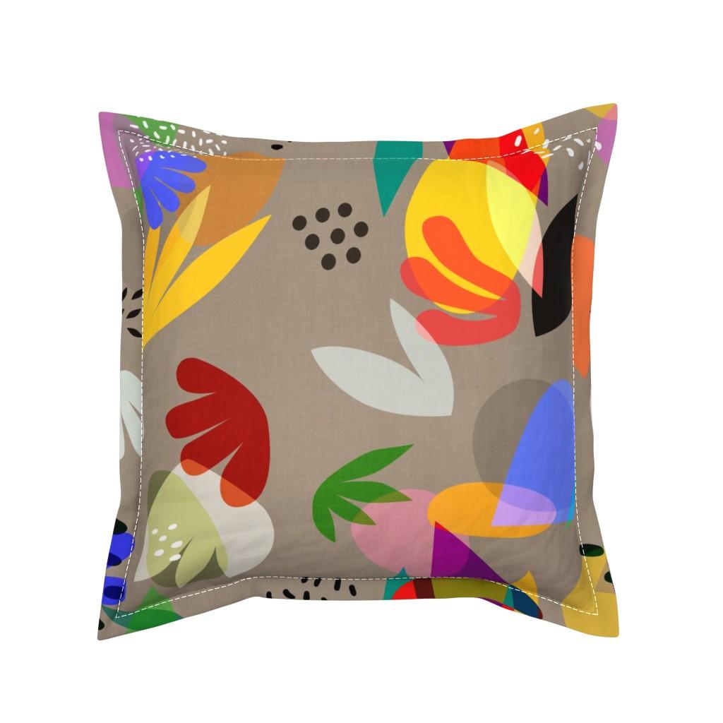 Serama Throw Pillow featuring Matisse Cutouts Linen by barbara_moffett
