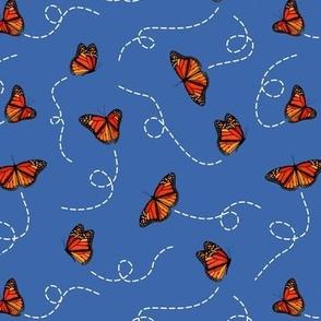 Monarch Butterflies pattern on sandy brown