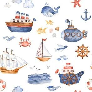 Ships Ahoy // White