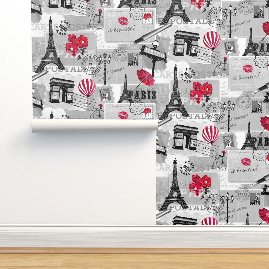 Isobar Durable Wallpaper featuring vintage mail from paris by michaelakobyakov