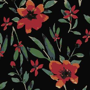 Watercolor floral  (moonlight)